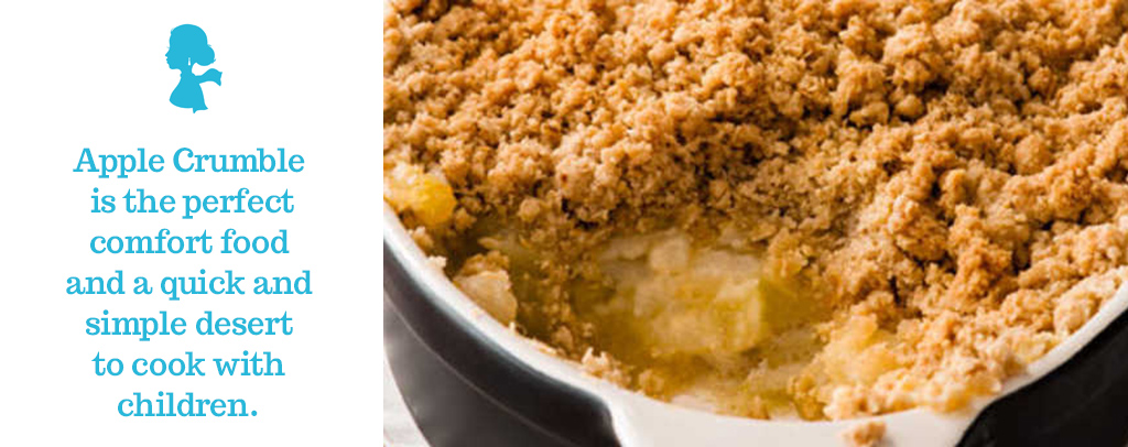 Apple Crumble with Fudge