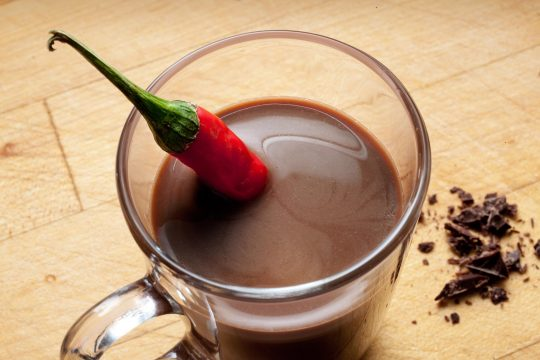 Chilli Hot Chocolate with Tequilla